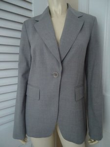 Banana Republic Banana Republic Blazer Stretch Wool Gray Heather One Button Front Classy