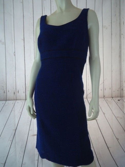 Alex Marie Poly Stretch Sheath Fitted Retro 60s Hot Dress Image 1