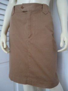 Other Ralph Lauren Jeans Co Petite 12p Stretch Faux Accent Skirt Beiges