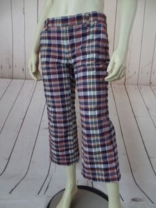 Other Tommy Hilfiger Tommy Jeans Jrs Spandex Blend Low Rise Capri Capri/Cropped Pants Red White Blue Yellow Plaid