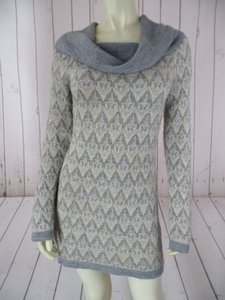 INC International Concepts Gray Acrylic Viscose Poly Wool Warm Chic Sweater
