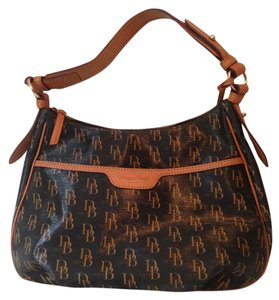 Dooney & Bourke Monogram Leather Shoulder Bag