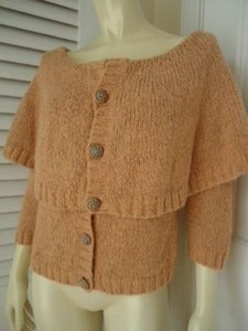Other Hwr Monogram Anthropologie Silk Mohair Blend Capelet Cardigan Chic Sweater