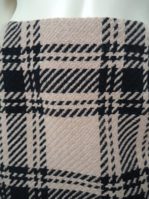 Ann Taylor LOFT Petites 4p Wool Blend Straight Retro Skirt Black & Tan Plaid Image 2