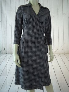 Uniform John Paul Richard Poly Knit Wrap Retro Circle Print Dress