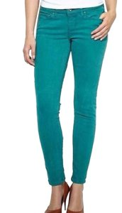 Levi's Demi Curve Cropped Denim In Emerald Skinny Jeans-Medium Wash