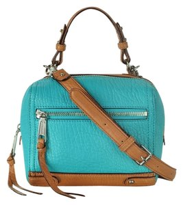 Rebecca Minkoff Caleb Color Block New Satchel in Teal/Brown