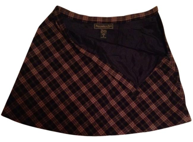 Abercrombie & Fitch Skirt Navy Plaid