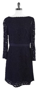 Tory Burch short dress Navy Lace Low Back on Tradesy
