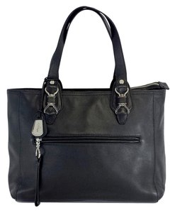 Cole Haan Large Leather Tote in black