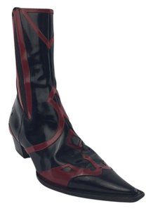 Dolce&Gabbana Leather Black/ Red Boots