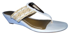 Impo white, gold & tan Sandals