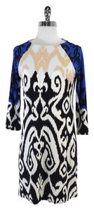 Tibi short dress Blue Black Tan White Swirl on Tradesy