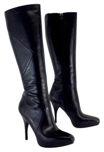 Via Spiga Black Leather Knee High Boots