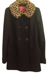 Betsey Johnson Leopard Pea Coat