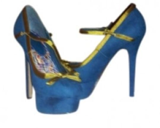 Preload https://item3.tradesy.com/images/teal-with-gold-trim-mary-jane-heels-suede-pumps-size-us-9-135867-0-0.jpg?width=440&height=440