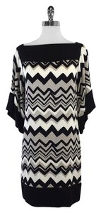 Diane von Furstenberg short dress Grey Wave Print on Tradesy