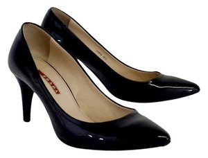 Prada Black Patent Leather Pointed Toe Pumps