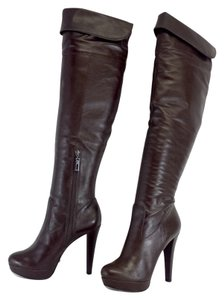 SCHUTZ Brown Leather Platform Boots