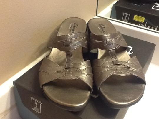 Clarks Comfortable Classy Silver Sandals