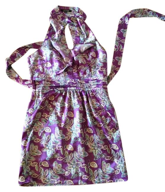 Crystal Candy short dress Purple Printed on Tradesy