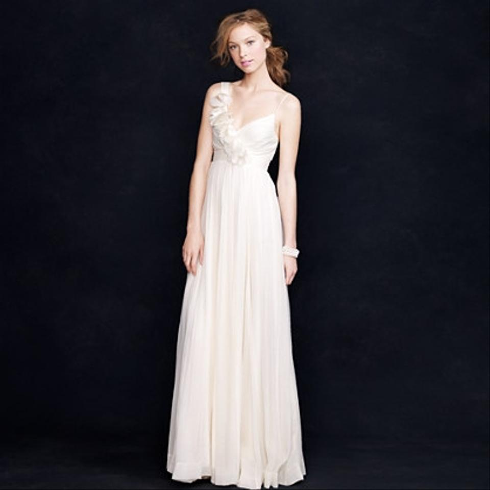 JCrew Ivory Silk Dune Destination Wedding Dress Size 6 S