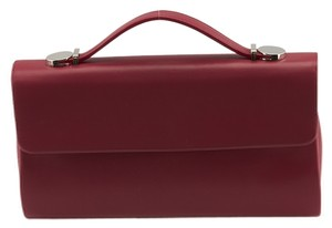 Tiffany & Co. Sutton Leather Red Clutch