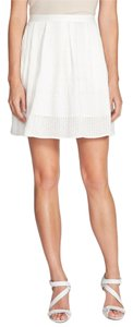 Chelsea28 Pockets Lined Perforated Skirt White Star