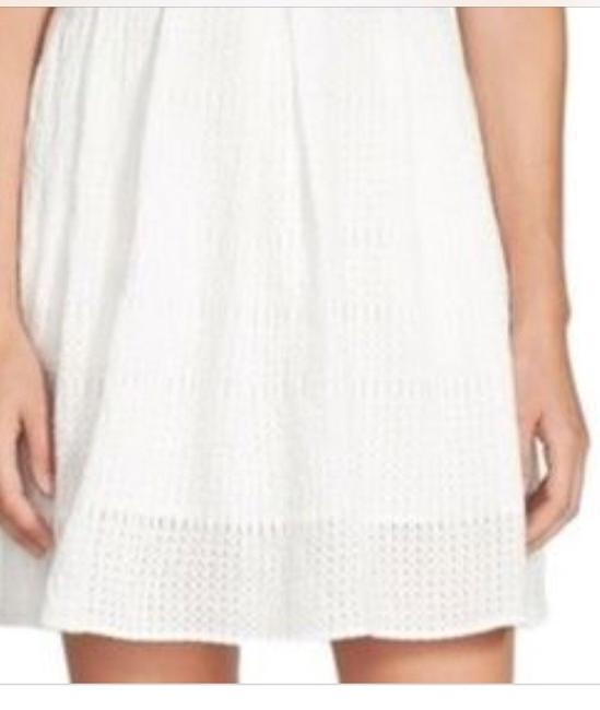Chelsea28 Pockets Lined Perforated Skirt White Star Image 5