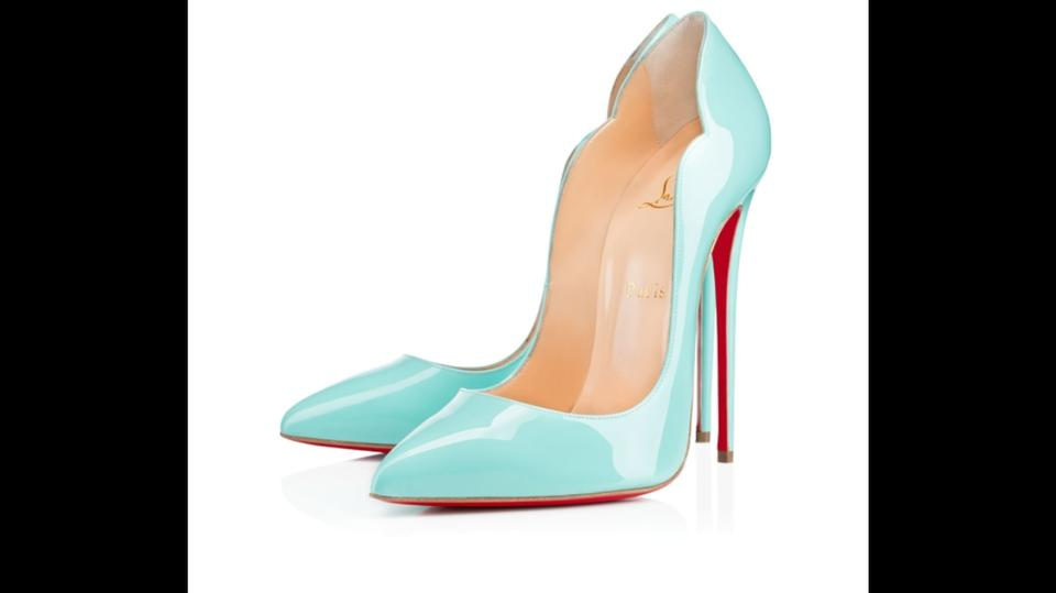 6cdbff9551a8 Christian Louboutin Tiffany Blue Rare Hot Chick 130mm In Pumps Size US 8.5  Regular (M