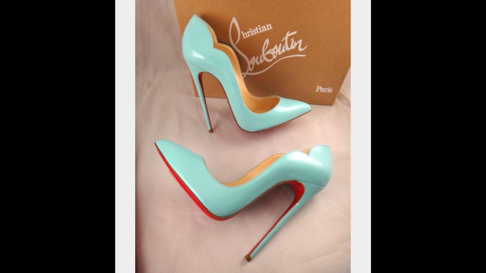 f69ad1090001 Christian Louboutin Tiffany Blue Rare Hot Chick 130mm In Pumps Size ...