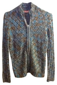 Nordstrom Multi-colored Warm Long Sleeve Mock Turtleneck Zipper Comfortable Sweater