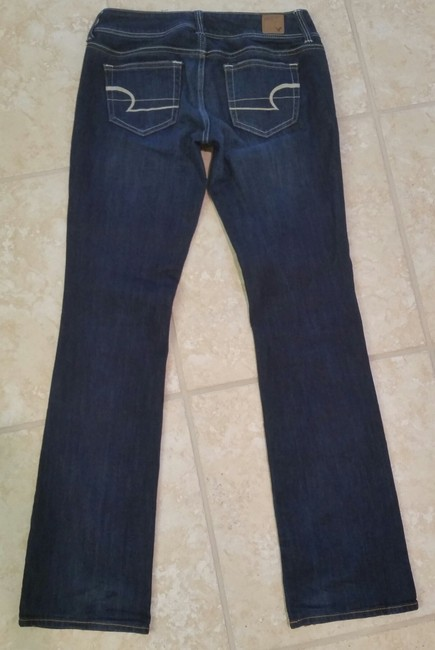 Aéropostale Zip Fly Boot Cut Jeans-Dark Rinse