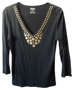 Michael Kors Studs Cotton T Shirt black