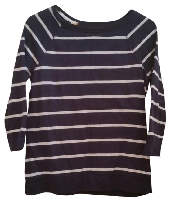 Preload https://item1.tradesy.com/images/merona-blue-with-white-stripes-nautical-sweaterpullover-size-8-m-1358970-0-0.jpg?width=400&height=650