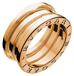 BVLGARI Bvlgari B.Zero1 18K Rose Gold 3 Band Ring AN852405 US 6.75
