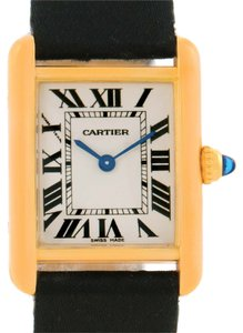 Cartier Cartier Tank Louis 18k Yellow Gold Black Strap Small Watch W1529856