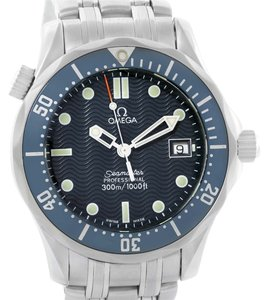 Omega Omega Seamaster James Bond Midsize 300M Blue Dial Watch 2561.80.00