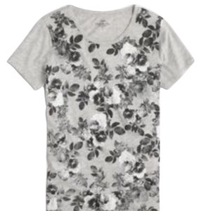 J.Crew Never Worn T Shirt grey floral