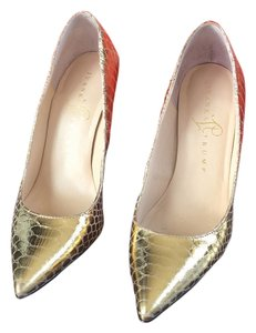 Ivanka Trump Metallic Leather Gold Pumps