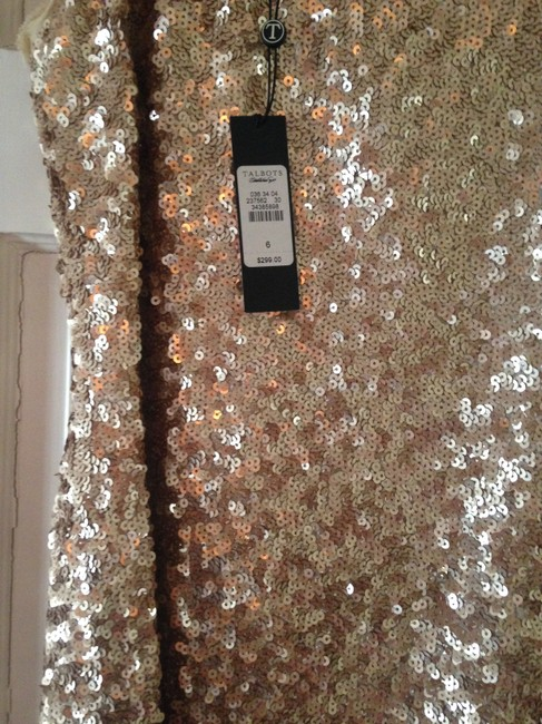 Talbots Gold Sequined Mid-length Cocktail Dress Size 6 (S) Talbots Gold Sequined Mid-length Cocktail Dress Size 6 (S) Image 3
