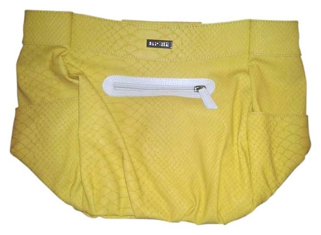 Item - Summer New In Pkg Retired Demi Size Interchangeable Face /Shell Yellow Faux Leather Hobo Bag