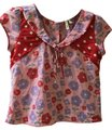 COOPER Never Worn Unique Floral Print Retro-style Top Red Image 0