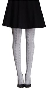 Cable Knit Grey Tights - S/M