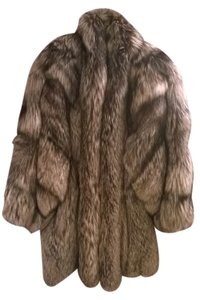 Silver Fox Fur Coat Coat