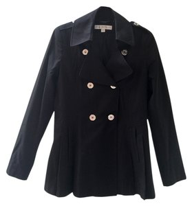 Via Spiga Pleated Lapel Raincoat