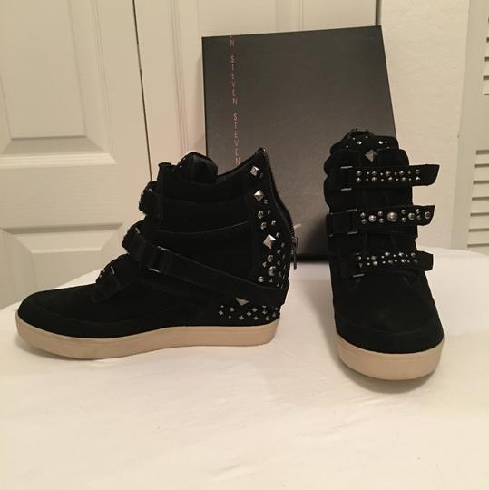 Steven by Steve Madden Black Wedges Image 1