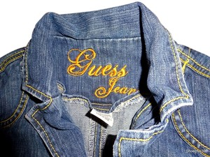 Guess By Marciano Coat Denim blue orange Womens Jean Jacket
