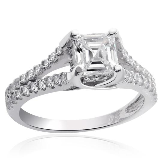 Avital & Co Jewelry H Vs2 1.35 Carat Asscher Cut Diamond 14k White Gold Engagement Ring Image 1