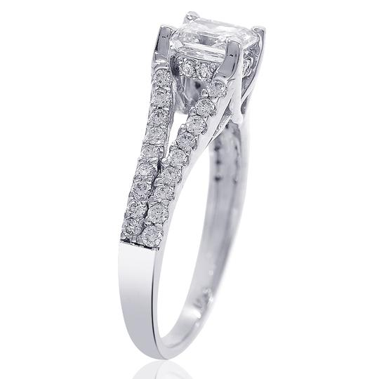 Avital & Co Jewelry H Vs2 1.35 Carat Asscher Cut Diamond 14k White Gold Engagement Ring Image 2